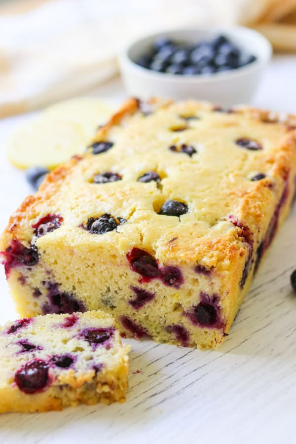 How to make a Lemon Blueberry Loaf.