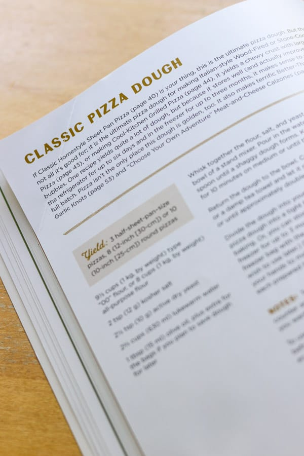 Classic Pizza Dough recipe.