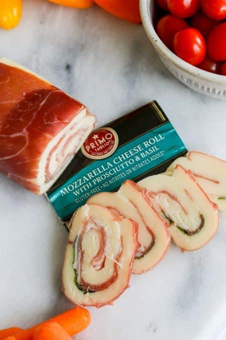 Primo Taglio® Cheese Mozzarella Prosciutto Roll.