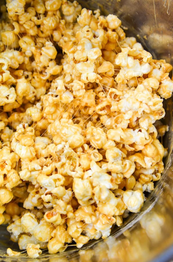 Popcorn mixed with marshmallows and PB2 Organic Powdered Peanut Butter.