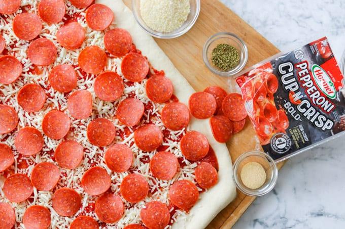 Slices of Hormel® Cup N' Crisp Pepperoni Bold