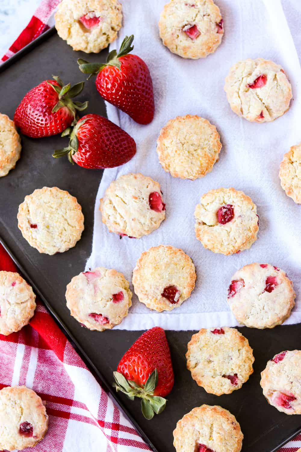 A tray of Strawberry Scones.