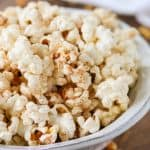 Popcorn tossed with cinnamon and sugar.