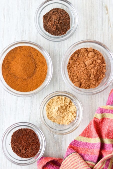 Ingredients needed for Pumpkin Spice made at home.l