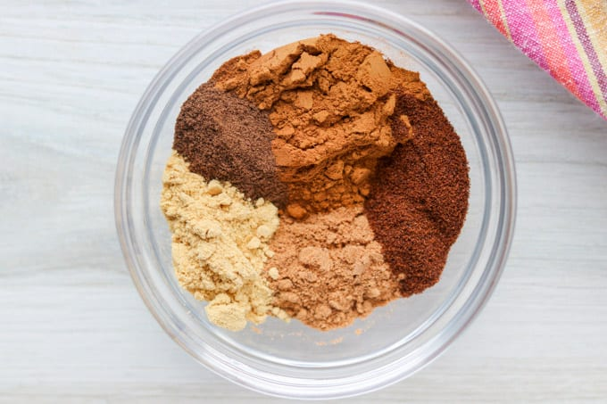 all the ingredients needed to make your own pumpkin spice without having to buy it at the store.