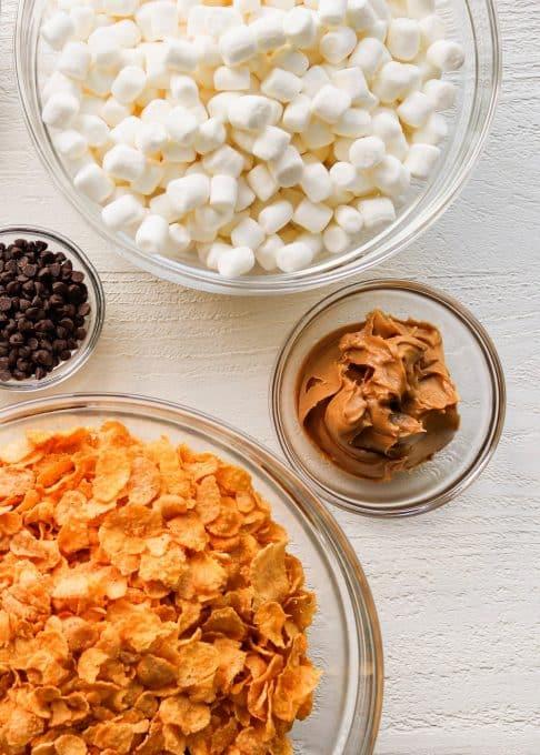 Ingredients for cornflake cookies.